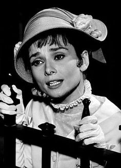 Audrey Hepburn in My Fair Lady. Don't talk...just show me.