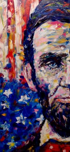 Abraham Lincoln Painting Portrait Pop Art by VladimirNezdiymynoga