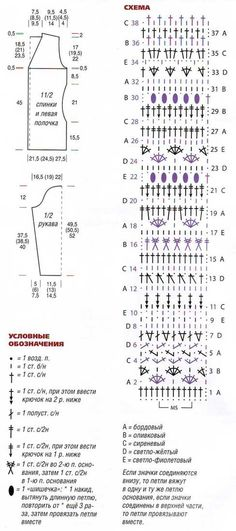 Схема полосатого узора