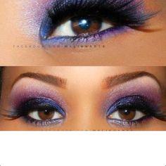 Gorgeous purple eye make-up! Looks like Ari Roma's! Purple Smokey Eye, Purple Eye Makeup, Makeup For Brown Eyes, Skin Makeup, Makeup Monolid, Makeup Eyeshadow, Eyeshadow Ideas, Smoky Eye, Makeup Geek