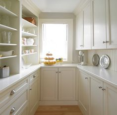 wall in wet bar and make it an exposed butler's pantry for kitchen