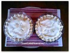 Grandma's Pie Crust Recipe - Two Crust Pie - Perfect every time. - strawberry rhubarb pie recipe too. Pie Dessert, Cookie Desserts, Dessert Recipes, Fruit Dessert, Dessert Ideas, Summer Desserts, Just Desserts, Delicious Desserts, Awesome Desserts
