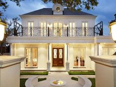 Photo of a wrought iron house exterior from real Australian home - House Facade photo 479297 Villa Plan, House Front, My House, Architecture Design, French Architecture, Futuristic Architecture, French Provincial Home, Facade House, House Facades