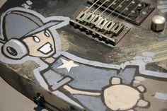 Acrylic Guitar Art by Mike Shinoda