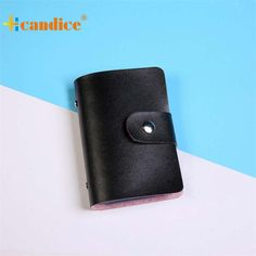 TRANSER New Men Women Leather Credit Card Holder Case Card Holder Wallet Business Card Women Solid High Quality Hasp Black Aug21  Price: 0.34 USD