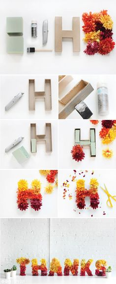 New Dorm Door Decorations Spring Floral Letters Ideas Cute Crafts, Crafts To Do, Paper Crafts, Diy Crafts, Diy Flowers, Paper Flowers, I Spy Diy, Fleurs Diy, Art Diy