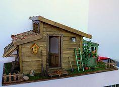 Cabane en bois avec serre / eBay