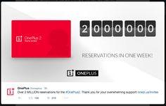 Novedad: OnePlus 2 consigue dos millones de reservas en tan sólo una semana