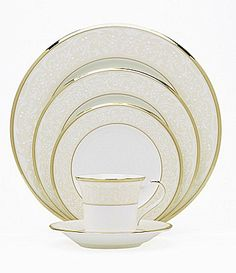 """Noritake """"White Palace"""" China   Dillards.com.  Absolutely gorgeous, I have fallen in love with this."""