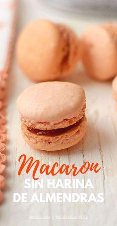 Cómo hacer macaron francés sin harina de almendras, se sustituye por coco deshidratado. Receta en españo paso a paso. | Sandwich cookies | Técnicas de cocina #macaron #galletas #sinharina