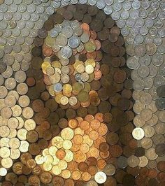 Find images and videos about art, mona lisa and coins on We Heart It - the app to get lost in what you love. Monnalisa Kids, Friday Funny Images, Street Art, Mona Lisa Parody, Coin Art, Creative Portraits, Art Plastique, Oeuvre D'art, Funny Pictures