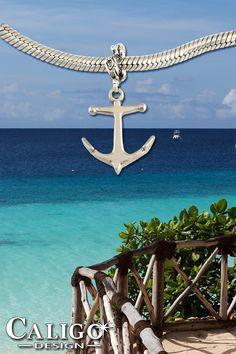 Anchor Charm - Sterling Silver Anchor Charm - Nautical Charms - Ocean Jewelry by Caligo Design - Nature Inspired Jewelry - Pirate Jewelry, Nautical Jewelry, Sea Jewelry, Pandora Jewelry, Anchor Charm, Nature Inspired, Ocean, Sterling Silver, Charms