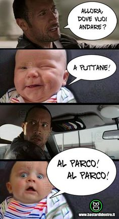 the rock, bambino, macchina, bambini bastardi dentro