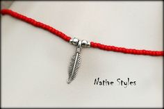 Items similar to Red Boho Ankle Bracelet~Seed Beaded Anklet with Feather Charm~Feather Pendant~ Native Style Anklet~Native Southwest Ankle Wrap Beaded Red on Etsy Native Style, Beaded Anklets, Native Indian, Ankle Bracelets, Jewelry Crafts, Seed Beads, Native American, Beading, Feather