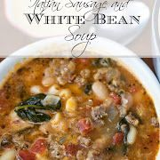 Keep warm during these winter months with this delicious hearty and flavorful Italian Sausage and White Bean Soup Recipe Bean Soup Recipes, Roast Recipes, Casserole Recipes, Cooking Recipes, Zuppa Toscana Suppe, Toscana Soup, Homemade Chicken Salads, Chicken Salad Recipes, White Bean Soup
