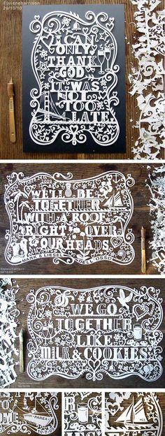 scherenscnitte | Moderne Scherenschnitte - Hochzeitsblog – Hochzeitsliebe und Design