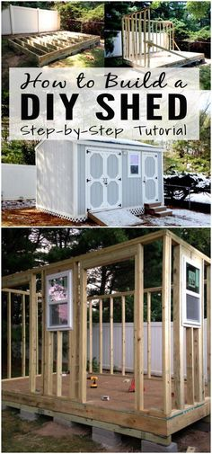 we have brought this collection of DIY Shed Plans that will help you build a beautiful shed of your choice without causing any load on your wallet or pocket!Build A Storage Shed garden shed diy 30 Cheap And Easy DIY Shed Plans Diy Storage Shed Plans, Building A Storage Shed, Building Ideas, Pallet Shed Plans, Outdoor Storage Sheds, Shed Building Plans, House Building, Diy Storage House, Cheap Storage Sheds
