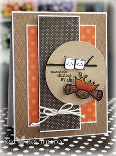 cute card  <3 it - a camping card!:
