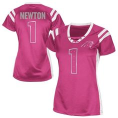 Nike Cam Newton Carolina Panthers #1 Women's Replica Name & Number ...