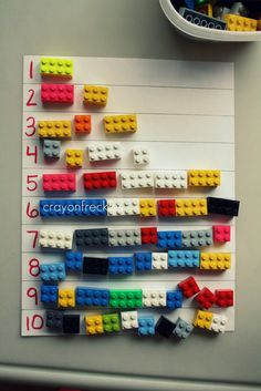 crayonfreckles: using legos to teach math and writing