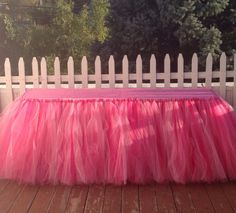 Tutu Table Skirt Candy Buffet Table Skirt Tulle Table by totakero