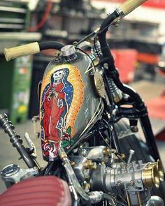 Biker Pullover weiß Body Shop Pinup Chopper Bobber USA Motorrad