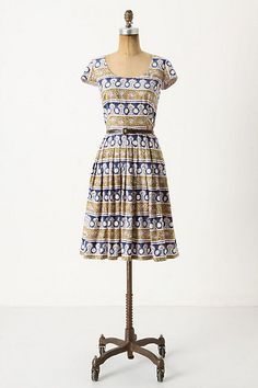 patterned anthro dress
