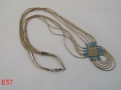 VINTAGE STERLING LIQUID SILVER NATIVE AMERICAN TURQUOISE HEISHI NECKLACE JEWELRY!!!!!  ON AUCTION THIS WEEK!!!!!!