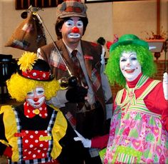 All three clown types. The whiteface, auguste and hobo