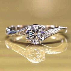 Romantic Love  NSCD Diamond  Wedding Ring - USD $68.95  Engagement Rings  Acceda a nuestro sitio Mucho más información   http://storelatina.com/ #Гэрийн #訂婚戒指 #zokuzibandakanya #uzuklari