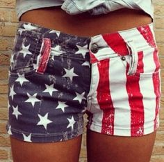 Great 4th of July shorts! Very festive