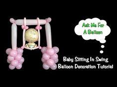 Baby Swing Balloon Decoration Tutorial - Baby Shower Idea - YouTube