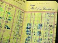 Bank book before the digital age!