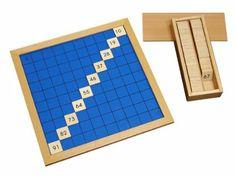 Amazon.com : Montessori Hundred Board : Board Games : Toys & Games
