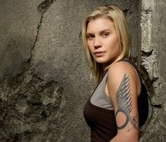 "Kara ""Starbuck"" Thrace  played by Katee Sackhoff - hottie"