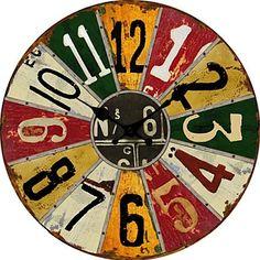 Reloj de pared Ruleta de colores   Relojes de pared