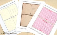 bnute productions: Scrapbook Paper Ideas: Perfect Postcards including Free Printable Postcard Template Backs