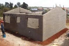 Poured Concrete Houses or Concrete Houses poured solid concrete walls house building system moladi Concrete Forms, Concrete Houses, Poured Concrete, Concrete Structure, Concrete Wood, Cement, New House Plans, Modern House Plans, Autoclaved Aerated Concrete