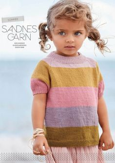2005 Sommer booklet includes 10 pattern for women for Sandnes Garn yarns. More information of manufacturers page. Available in print, in English and German language. Kids Knitting Patterns, Kids Patterns, Knitting For Kids, Raglan T-shirt, Knit Baby Sweaters, Rainbow Sweater, Summer Stripes, Lace Sweater, Yarn Shop