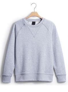 Gray Classic Plain Collar Raglan Sleeve Sweatshirt$43.00