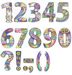 numbers etc | Phew! now to put all these to work in some way… | sheila arthurs | Flickr