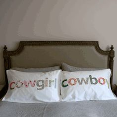 pillowslips for cowgirls and cowboys