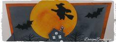 DesignZauberein:    Halloween-BendiCard  So, jetzt bin ich auch dem... Bat Signal, Superhero Logos, Halloween, Design, Art, Art Background, Kunst, Gcse Art, Halloween Stuff