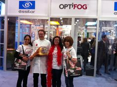 Members of the Optifog team with Mario the Butcher at Vision Expo East