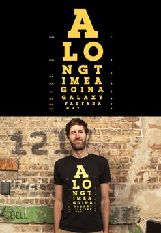 """""""This Is Not the Eye Chart You're Looking For…""""  The shirt has been reprinted at Threadless, just in time for May 4th!  Buy a Print"""