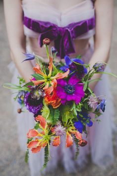 Garden whimsy inspired bouquet. wildflowers by design.