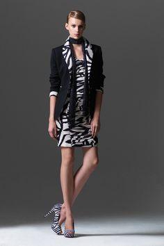 Black & white animal print dress_Code 455121, Jacket_Code 453033