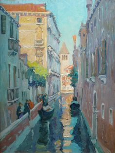 Canal, Venice, Italy by Jane Peterson (1876-1965) Oil on canvas  40 x 30 inches Circa 1907