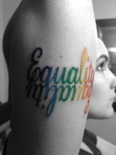I love this #equality tattoo