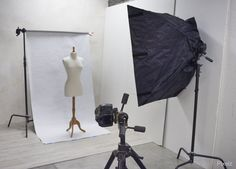 Simple photo studio setup.